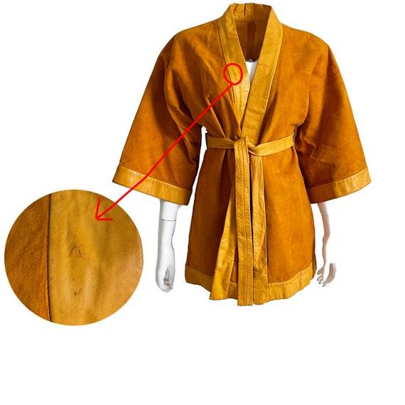 Bonnie Cashin for Sills Jacket Pumpkin Suede Leat… - image 9