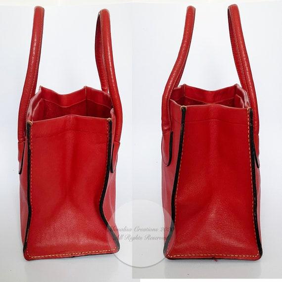 Vintage Bonnie Cashin for Coach Bag Red Leather D… - image 3