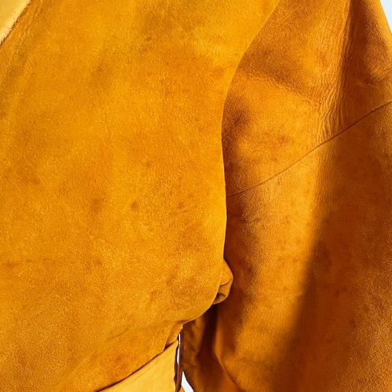 Bonnie Cashin for Sills Jacket Pumpkin Suede Leat… - image 7