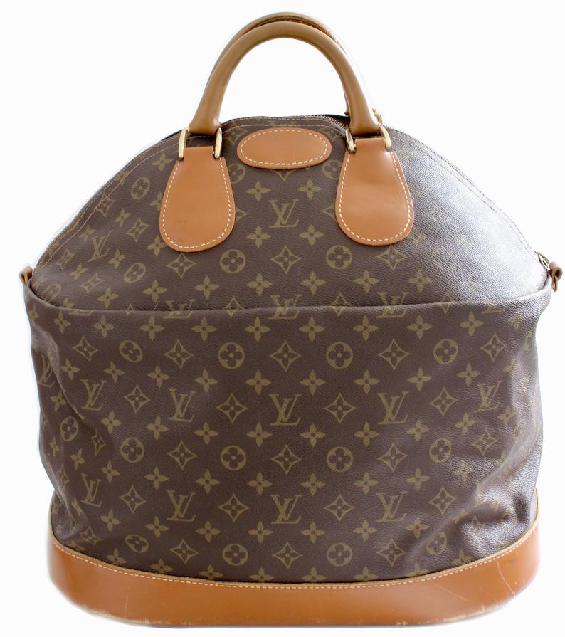 28c5c10cdd8df Rare Louis Vuitton Monogram Steamer Bag Keepall Tote Luggage | Etsy
