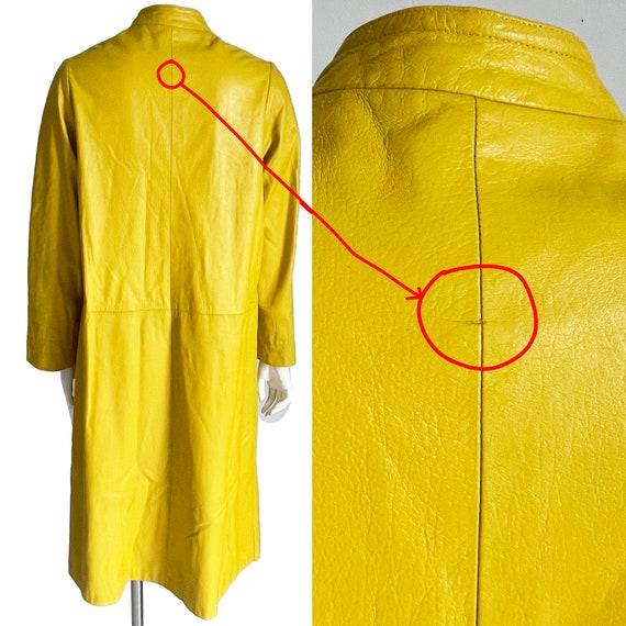Bonnie Cashin for Sills Coat Mod Lemon Yellow Lea… - image 5