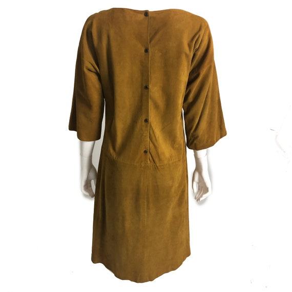 Bonnie Cashin Dress Gold Suede Leather Kimono Sle… - image 3