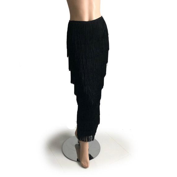 Vintage Norma Kamali OMO Long Skirt with Tiered F… - image 4