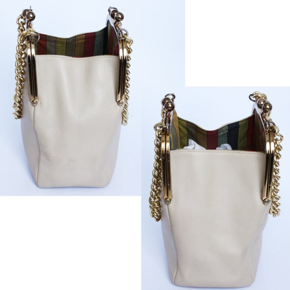 Bonnie Cashin for Coach Double Kiss Lock Bag Tote… - image 5