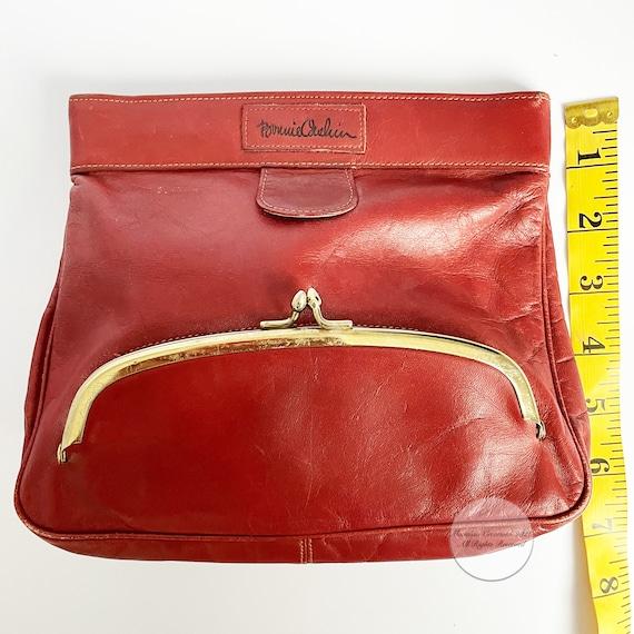 Bonnie Cashin Clutch Bag Brick Red Leather Hinge … - image 3