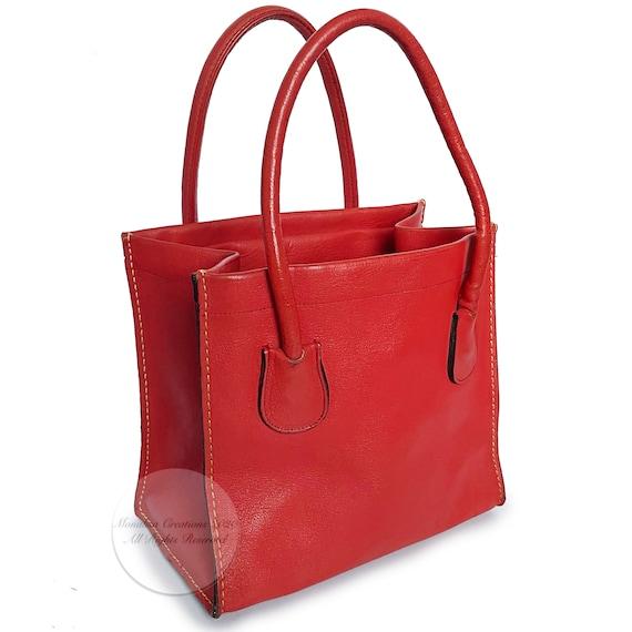 Vintage Bonnie Cashin for Coach Bag Red Leather D… - image 2