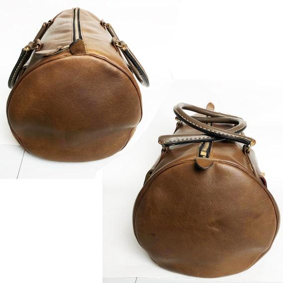 Bonnie Cashin for Coach Safari Bag Brown Leather … - image 3