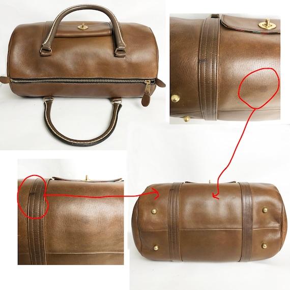 Bonnie Cashin for Coach Safari Bag Brown Leather … - image 5