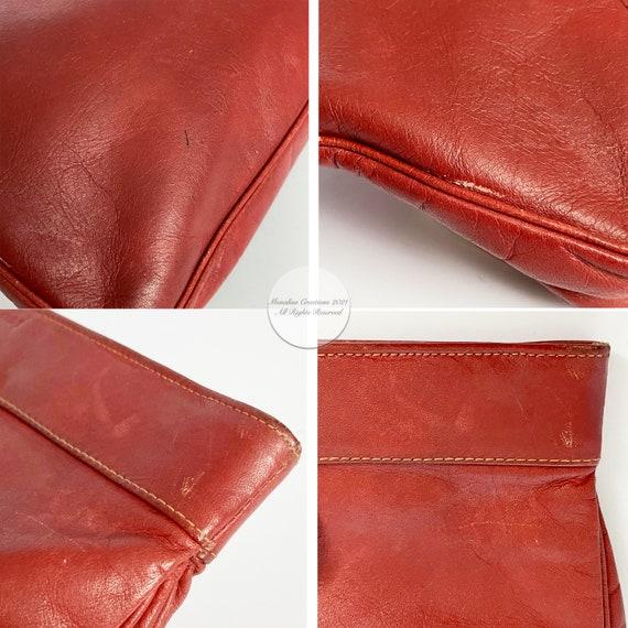 Bonnie Cashin Clutch Bag Brick Red Leather Hinge … - image 9