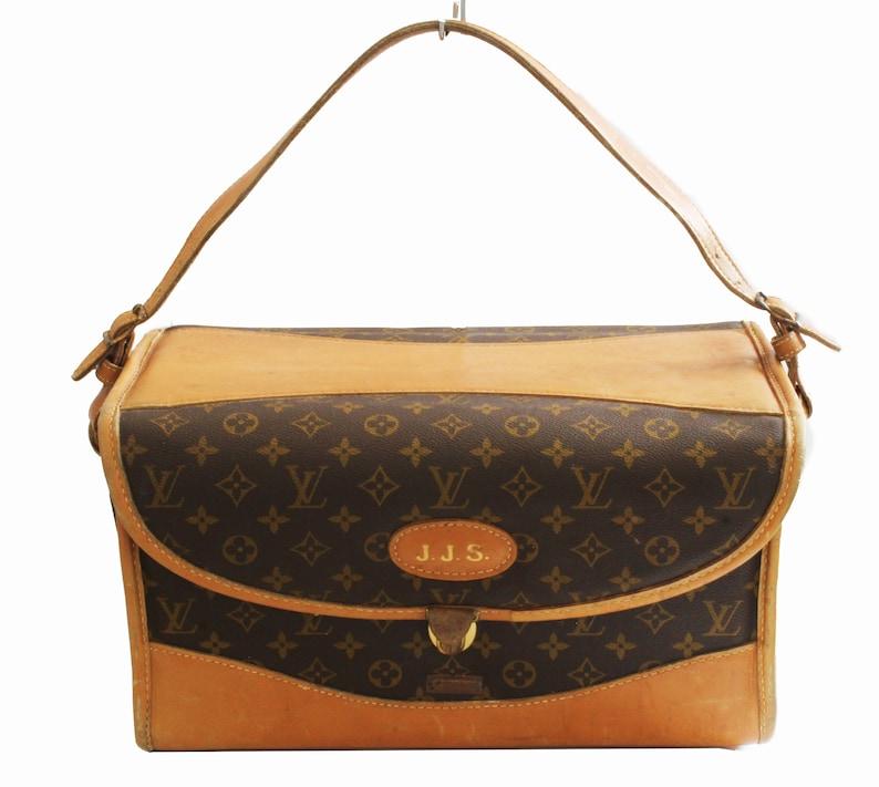 3d469cd0ed99 70s Louis Vuitton Monogram Train Case Vanity Travel Bag Saks