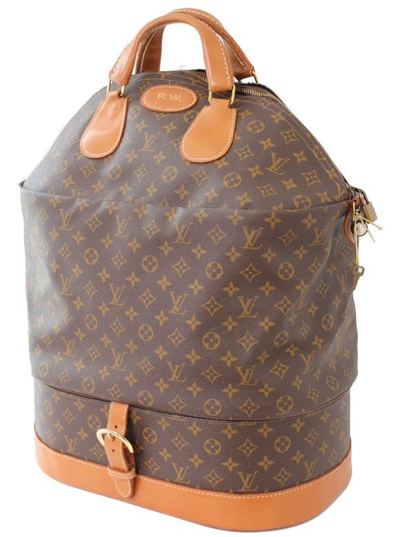 Rare Louis Vuitton French Co Monogram XL Steamer Bag Dual   Etsy 528fb17d691