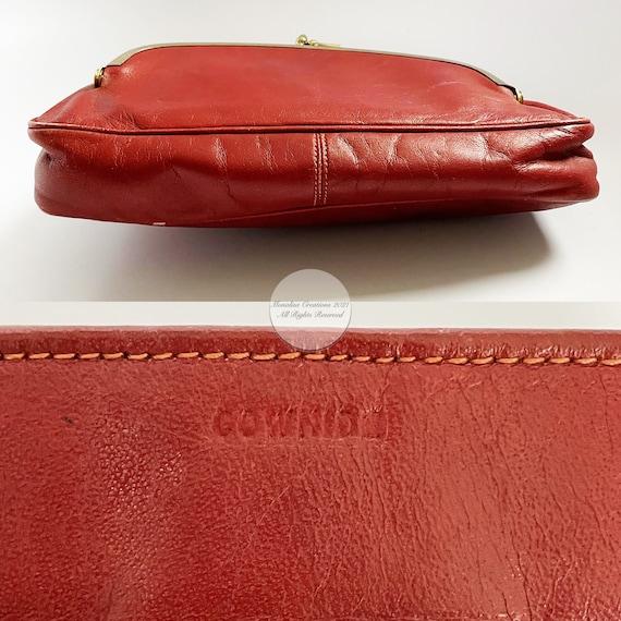 Bonnie Cashin Clutch Bag Brick Red Leather Hinge … - image 7