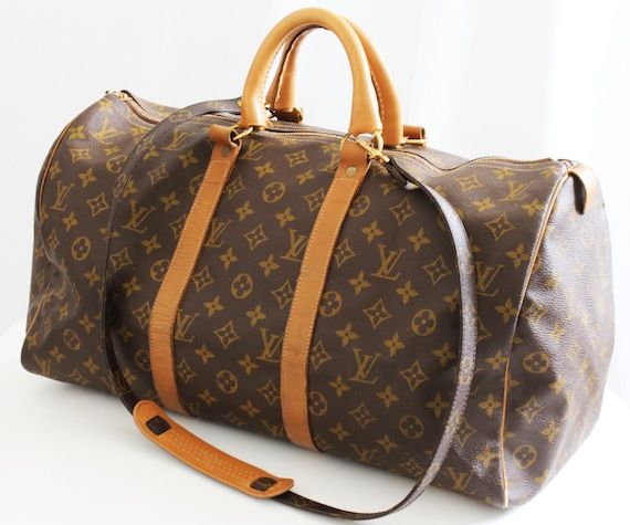 Discover extremely unique limited sale Vintage Louis Vuitton Keepall Duffle Bag 45cm Travel Keepall French Company  + Shoulder Strap