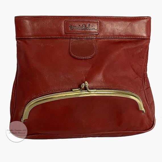 Bonnie Cashin Clutch Bag Brick Red Leather Hinge … - image 5