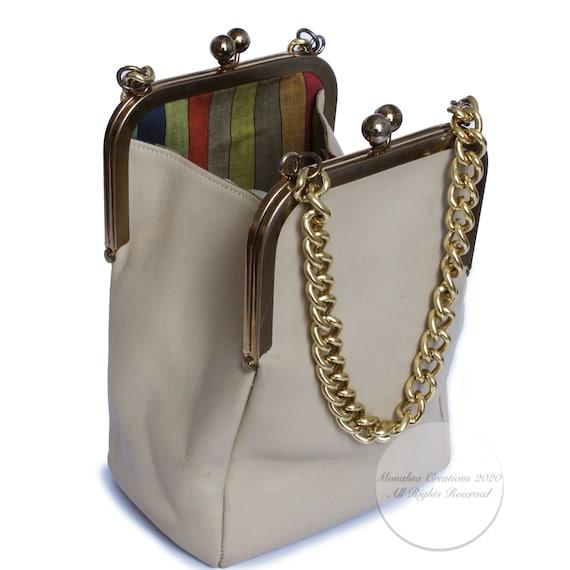 Bonnie Cashin for Coach Double Kiss Lock Bag Tote… - image 4