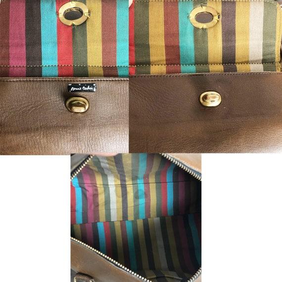 Bonnie Cashin for Coach Safari Bag Brown Leather … - image 7