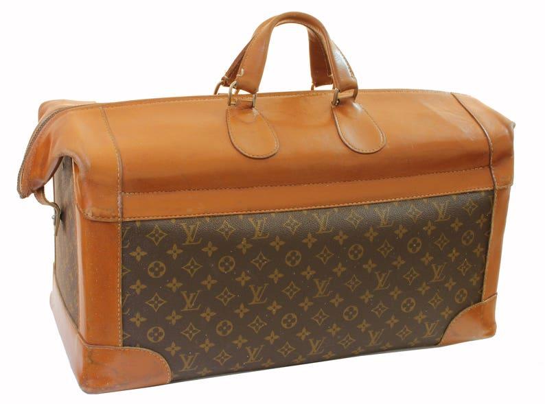 13f20e5a208 Vintage Louis Vuitton Monogram Travel Bag Steamer Keepall