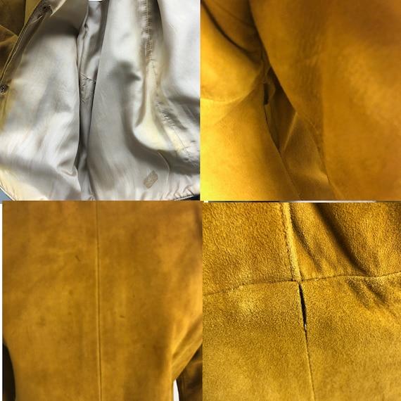 Bonnie Cashin Dress Gold Suede Leather Kimono Sle… - image 6