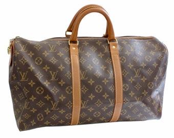 70s Louis Vuitton Monogram Keepall Travel Duffle Bag French Company 45cm Rare