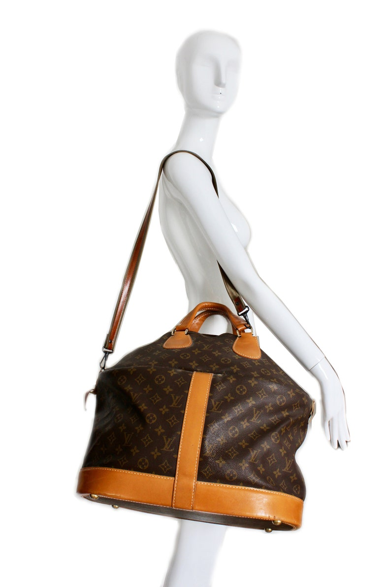 5ea7d0fa6da Rare Louis Vuitton French Co Steamer Bag Monogram Travel Tote with Shoulder  Strap Chic Vintage Luggage