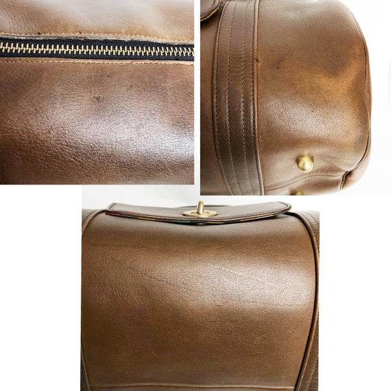 Bonnie Cashin for Coach Safari Bag Brown Leather … - image 6