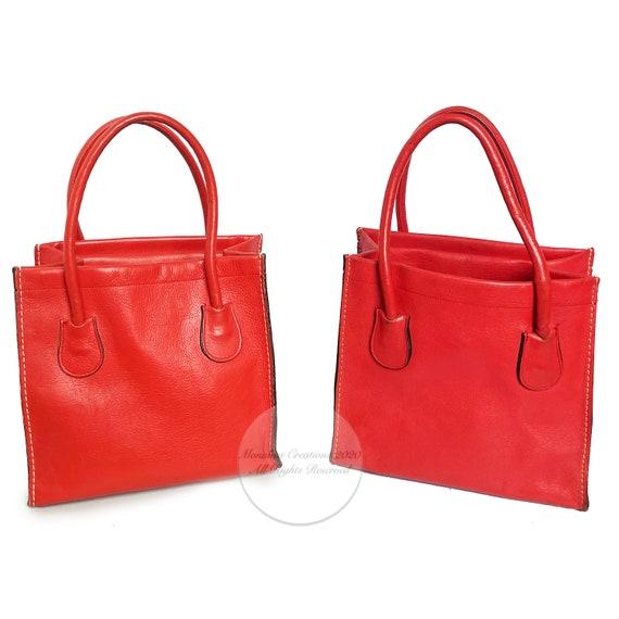 Vintage Bonnie Cashin for Coach Bag Red Leather D… - image 10