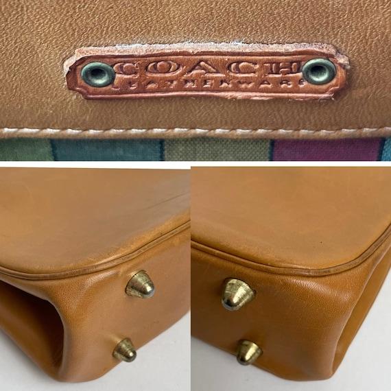 Bonnie Cashin for Coach Kiss Lock Bag Saddle Tan … - image 10