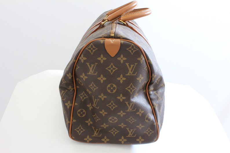 e7d0c41b1b29f 70s Louis Vuitton Monogram Keepall Travel Duffle Bag French