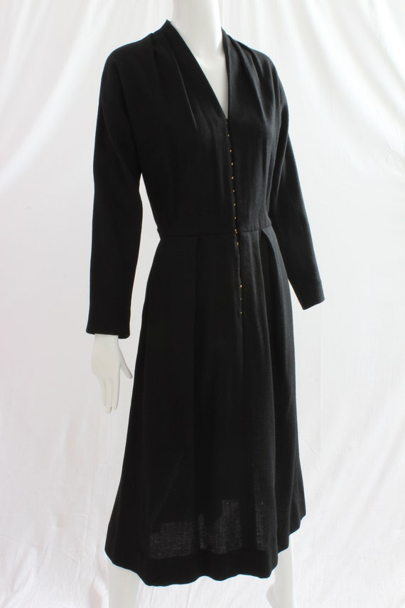Vintage Claire McCardell for Townley Black Wool Dr