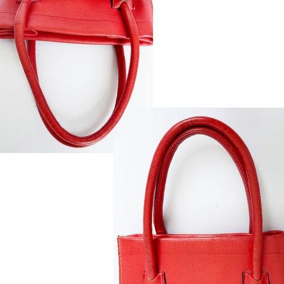Vintage Bonnie Cashin for Coach Bag Red Leather D… - image 8