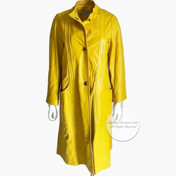 Bonnie Cashin for Sills Coat Mod Lemon Yellow Lea… - image 3