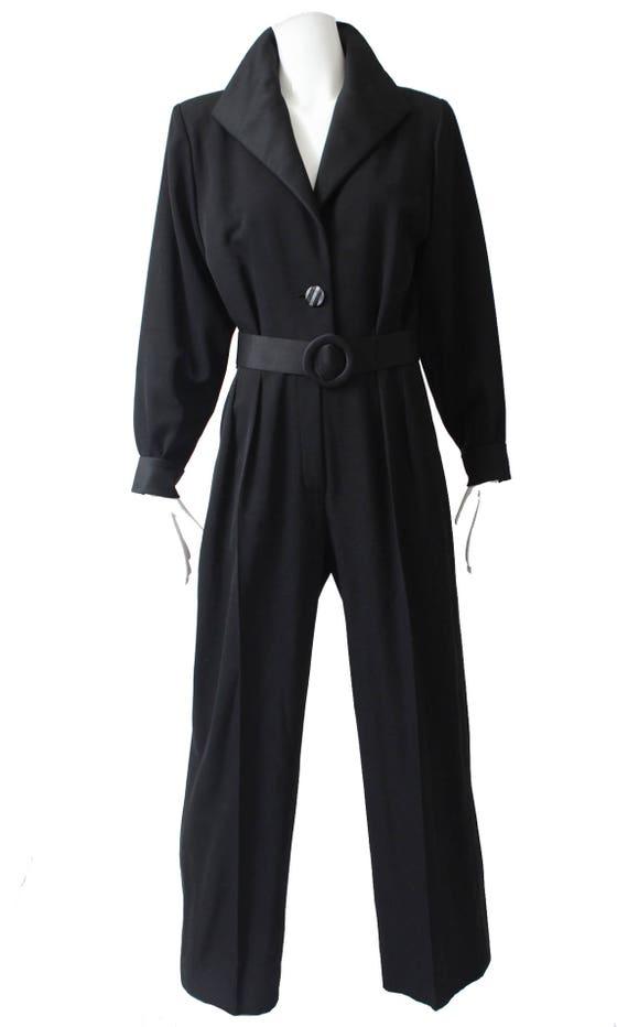 03e4dd33d45 Yves Saint Laurent Jumpsuit Black Tuxedo Le Smoking YSL Rive