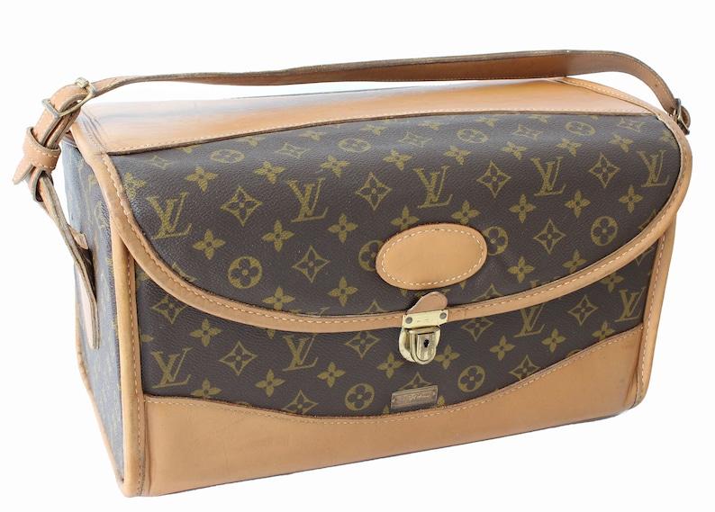 e51ed0e7473f5 Rare Louis Vuitton Monogram Train Case Vanity Travel Bag Saks | Etsy