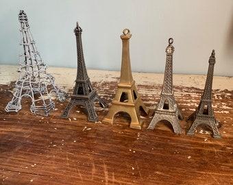 SALE 5 Eiffel Towers Parisian Decor Ornaments