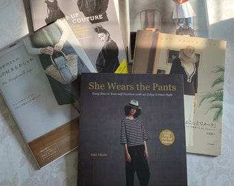 Lot of 5 Japanese Sewing Pattern Inspo Books