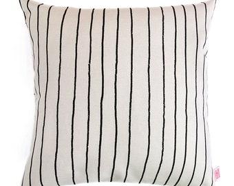 Pillow Cover Simple Stripe Liquorice