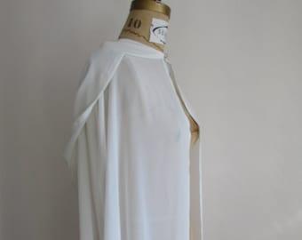 Sample SALE Sheer Bridal Hooded Cape Coverup - Full Length
