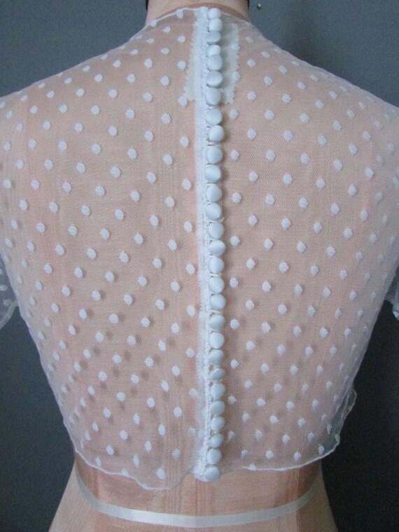 Ivory  Aspirin Dot Mesh 2 yds 8591