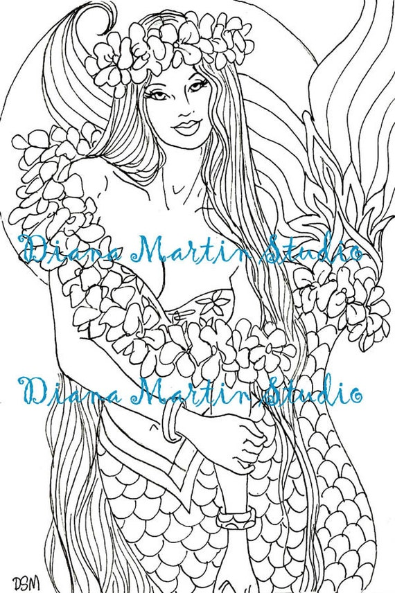 Adult Coloring Pages Sun Moon Images, Stock Photos ... |Moon Mermaid Coloring Pages