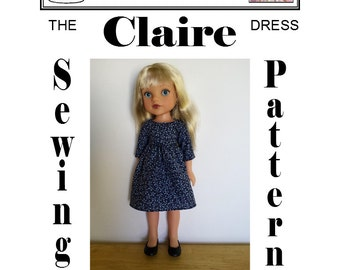 Claire Dress for Hearts 4 Hearts doll PDF Pattern by Dolly Delicacies
