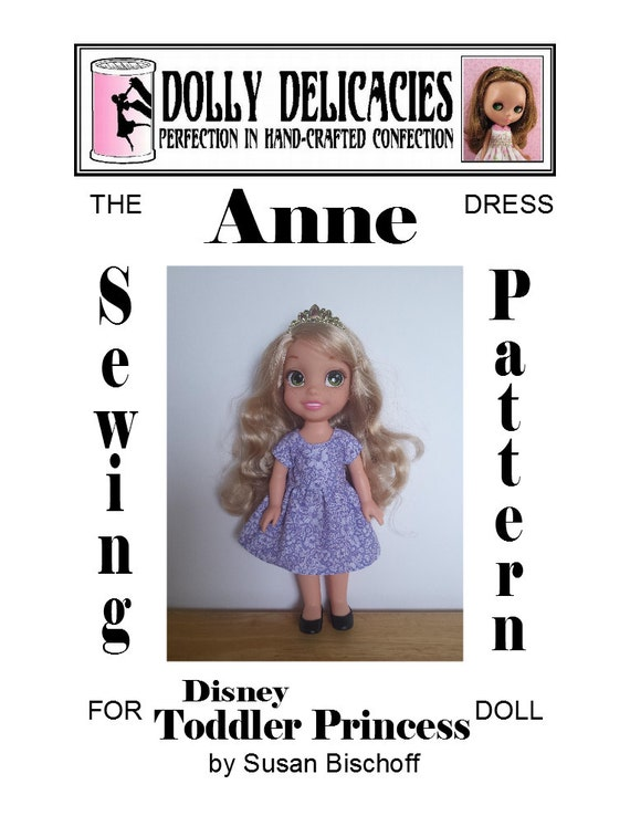 ANNE Dress PDF Sewing Pattern For 40 4040 Disney Toddler Etsy Unique Disney Sewing Patterns