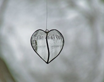 Limited Edition - Transparent Glass Heart from Newcastle Brown Ale bottle Collector's Item Gift Ornament