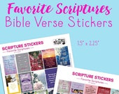 Scriptures Stickers, Bible Verse Stickers, for, Bible Journaling, Christian Planner Stickers, Bible Planner Stickers, for Happy Planner