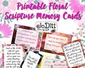 Bible Scripture Cards/Bible Verse Cards, Scripture Memory Cards/Bible Verse Printable, Bible Journaling, Christian Cards/Scripture Cards