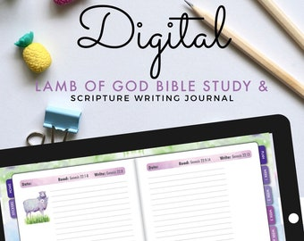 GoodNotes Digital Bible Journal for iPad, Easter Bible Reading Plan, Guided Scripture Writing Prayer Journal, Digital Stickers Coloring Page
