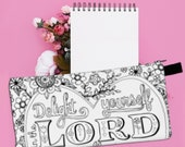 Delight Yourself in the Lord, Cute Pencil Case, Bible Journaling, Cute School Supplies. Christian Gifts for Women, Pencil Pouch, Cute Gifts
