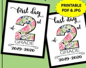 First Day of Second Grade, First Day of School Sign Instant Download, First Day of School Sign White, 1st Day of School Sign, Back to School