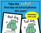 Back to School Sign Boy, 4th Grade, First Day of School Sign Printable, First Day of Fourth Grade Sign, 1st Day of School Sign, Photo Props
