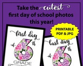 First Day of School Sign Instant Download, Floral Back to School Sign 6th Grade, 1st Day of School Sign, First Day of Sixth Grade Sign Girl
