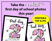 First Day of School Sign Printable, First Day of Second Grade Sign, Back to School Sign 2nd Grade Girl, 1st Day of School Sign Photo Props